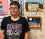 Young Artist and his art
