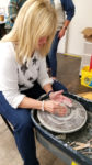 Learn pottery on the wheel