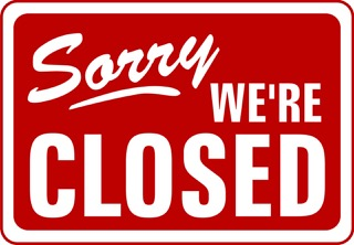 Sorry, we're Closed