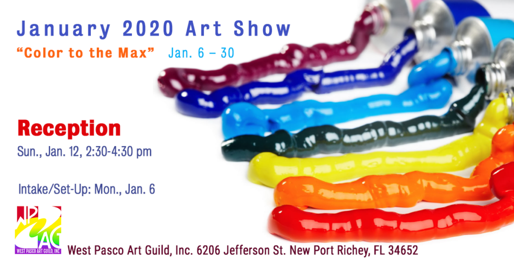 WPAG color to the max january 2020 art show