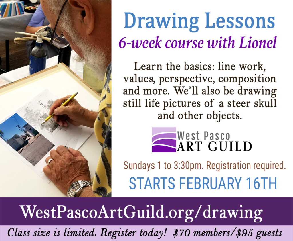 Beginner drawing with lionel