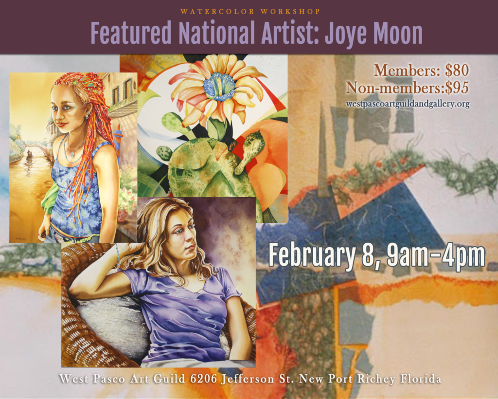 Joye Moon Watercolor Workshop at the West Pasco Art Guild in New Port Richey.