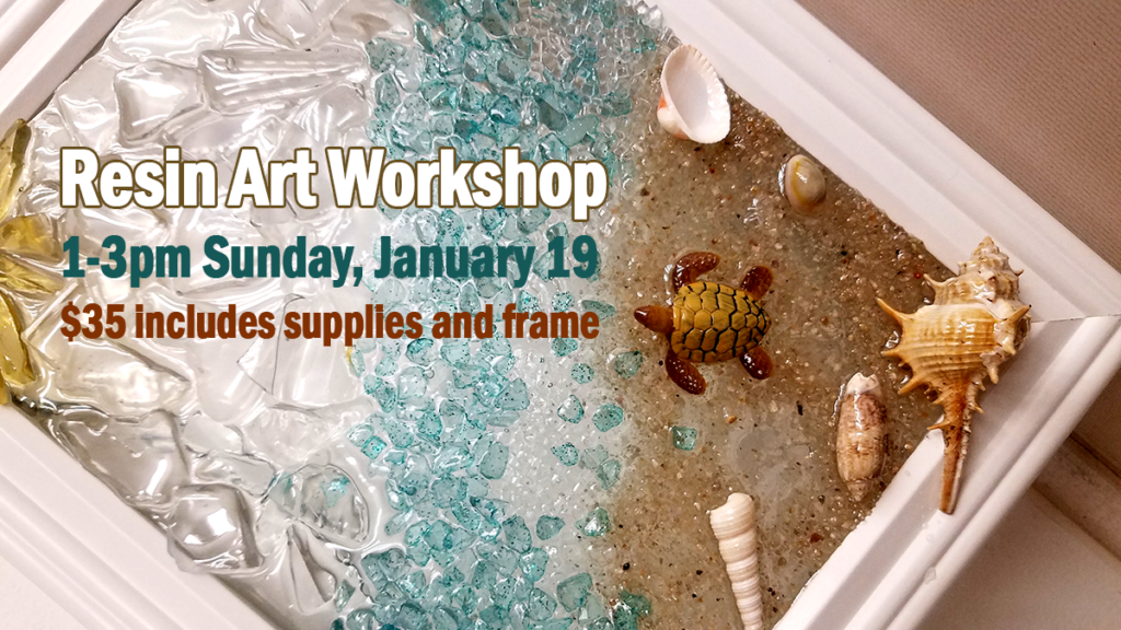 Resin Art Workshop Sun. Jan 19 2020
