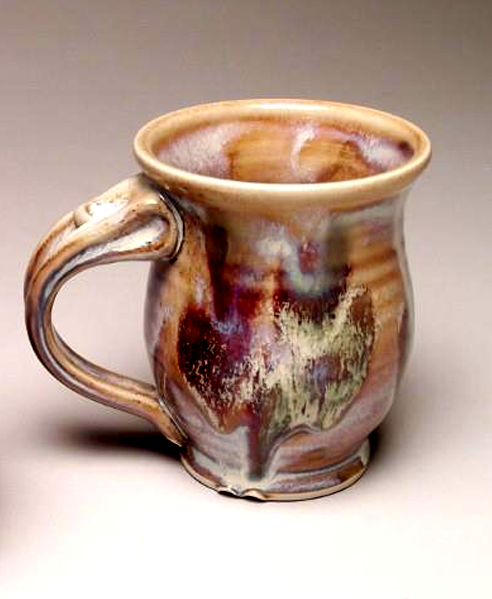 Coffee mug pottery thrown on wheel